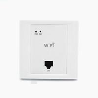 ingrosso punti di accesso-White Wireless WiFi in Wall AP Camere d'hotel di alta qualità Coperchio Wi-Fi Mini Access Point per router AP a parete