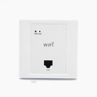 Wholesale wifi access point resale online - White Wireless WiFi in Wall AP High Quality Hotel Rooms Wi Fi Cover Mini Wall mount AP Router Access Point