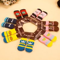 Wholesale Fashion Dog Shoes - Fashion Design Warm Pet Socks Latex Skid Proof Dog Sock Lovely Wool Knitted Puppy Shoes Multi Color 2 1xp B