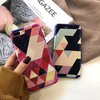 Wholesale Iphone Abstract - Abstract Marble Stone Image Phone Case For iPhone 6 6s Plus Flower Leaf Back Cover Hard PC Cases For iPhone 6S 7 8 Plus