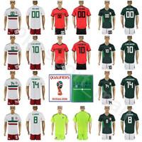Wholesale flashing pants - World Cup 2018 Mexico Jersey Soccer Set 10 Giovani Dos Santos 14 Chicharito Javier Hernandez 22 Hirving Lozano Football Shirt Kits With Pant