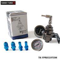 Wholesale Performance Pressure - Tansky - New Jdm high-performance Aluminum Adjustable Fuel Pressure Regulator FPR Type S With Gauge For BMW E39 5 TK-FPR0519TOM