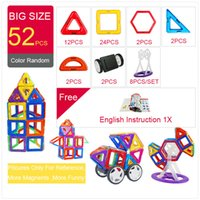 Wholesale square blocks toy resale online - 52 Big Triangle Square Brick Designer Light Brick Building Blocks Magnetic Toys