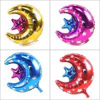 bons eventos venda por atacado-New moon foil balões fontes do partido decoração do partido do evento balão de aniversário celebração favores boa qualidade atacado balão