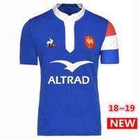 les vêtements achat en gros de-2018 2019 France Maillots de Rugby 18 19 France Maillot Maillot Maillots Casual s-3xl