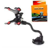 Wholesale cellphone arm holder for sale – best Universal Windshield Car phone Mount holder Long Arm clamp with Double Clip Strong Suction Cup Phone Car cellphone Holder for smartphone