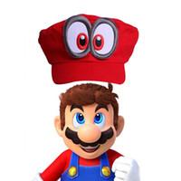 Wholesale Super Mario Cosplay Hat - Game Super Mario Odyssey Hat Adult Kids Anime Cosplay Cap Super Mario Odyssey costumes