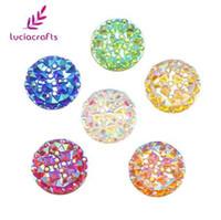 Wholesale sew resin rhinestones - Lucia Crafts 48pcs lot 12mm Resin Sew-on Stones Flatback Rhinestones DIY Sewing Crystals Beads for Wedding Dress 080002053