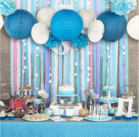 ingrosso blu festa di compleanno-Set di 13 (Blue, Pink) Party a tema spiaggia Under the Sea Party Decoration Set Ragazzi Festa di compleanno Baby Shower 1 ° Compleanno