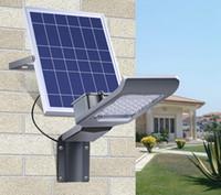 pouvoir d'éclairage public achat en gros de-20W 30W LED Réverbère solaire étanche étanche Contrôle de la lumière extérieure IP65 Énergie solaire Led Light Garden Street Lampadaire avec télécommande intelligente
