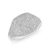 bijoux aaa de haute qualité achat en gros de-US TAILLE 6 7 8 Pinky anneau Cocktail femmes doigt anneaux micro pave AAA cubique zircone mode argent plaqué de haute qualité bijoux