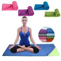 Wholesale yoga fitness mat - Soft Travel Sport Fitness Exercise Yoga Pilates Mat Cover Towel 183*61cm Non-slip Sports Towels 7 Colors OOA4021