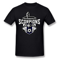 camisetas personalizadas al por mayor-New Coming Homme 100% algodón Scorpions Camisetas Homme Crew Neck Purple manga corta Wear 4XL Custom T-Shirts