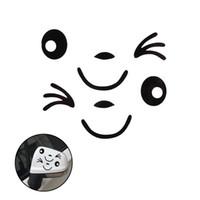 nuevo espejo retrovisor al por mayor-2 UNIDS Nuevo Diseño Impermeable 3D Sonrisa Cara Decoración Etiqueta Engomada Para El Espejo Lateral del coche Retrovisor Auto Car Styling Etiqueta Auto