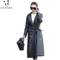 chaqueta de cuero genuino chaqueta de las mujeres al por mayor-2018 Otoño Moda Street Style Mujer Chaqueta de cuero de cuero de la motocicleta 100% SheepSkin Genuine Leather Coat Outerwear WHF91