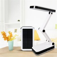 Wholesale black modern table lamps resale online - Solar battery rechargeable foldable Adjustable Desk Lamps led Table Lamp dimmable night light With LED Reading Charge lamp