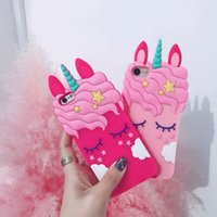 Wholesale Cover for iPhone Xs Max XR Case D Silicon Unicorn Cartoon Phone Back Cover Luxury brand For iphone s plus