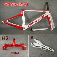 Wholesale carbon road bike saddle red - Model of White-Red 3K 1K T1000 Cipollini NK1K carbon road frames+Handlebar+Saddle with BB68 BB30 Matte Glossy for selection free shipping