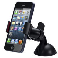Wholesale iphone 5s car charger holder - New Balck White Universal Car Holder Car Windshield Mount Holder for MP3 GPS iPhone 5S 6S SE 7 8 Samsung