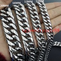 Wholesale curb links chain bracelet for sale - Group buy 9 mm Wide Cuban Curb Link Chain Mens Stainless Steel Polishing Silver Tone Bracelet Or Necklace Jewelry quot