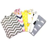 Wholesale breast wrap - 7 Style INS Udder Cover Baby Infant Breast feeding stripe Nursing Cover Cotton Cloth Towel Anti exposure mom Breastfeeding towel B11