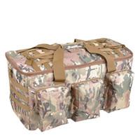 kullanılan askeri toptan satış-600 d naylon 50 l erkek büyük kapasiteli sırt çantası askeri su geçirmez kamuflaj Seyahat paketi yüksek kaliteli Çift kullanımlı Okul çantası