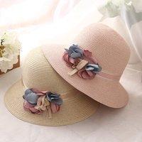 einstellbarer faltbarer strohhut großhandel-Dame Straw Sun Hüte für Frauen Faltbare Sommer Visiere Caps Outdoor Shade Beach Hut einstellbar