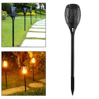 ingrosso luce automatica di natale-Impermeabile Outdoor 96 LED Solar Energy Light Halloween Christmas Lights con Torcia Shape e Light Sense Modalità automatica LEG_23W