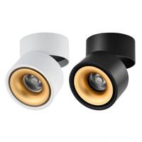 plafón cuadrado 1w al por mayor-2018 Montado en superficie Mini empotrado Redondo COB LED Downlights 5W 7W 12W 360 grados de rotación LED Lámpara de techo Spotlight Downlight AC85-265V