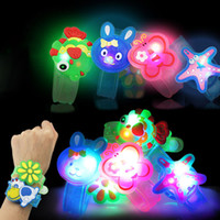 Wholesale selling children toys for sale - Group buy Creative Cartoon LED Watch flash Wrist bracelet light small gifts children toys stall selling goods Christmas toys C4778