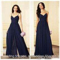 7a94803f686 Wholesale long black dresses for juniors online - Cheap Chiffon Bridesmaid  Dress Rompers Spaghetti Strap V