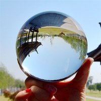 ingrosso lente d'arte-K9 Sfera di cristallo decorativa 60mm Chiara fotografia Lens Prop Casa del globo, ufficio, Hotel Desktop Decor Feng Shui Art Ornament