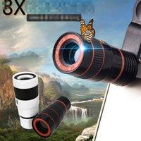 zoomobjektiv für smartphone großhandel-8x Zoom Optisches Telefon Teleskop Portable Handy Tele Kamera Objektiv und Clip für iPhone Smartphone