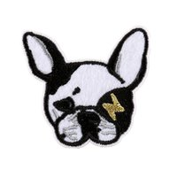 Wholesale wholesale embroidered dog patches - Embroidery Patch Shar Pei Dog Sew Iron On Embroidered Patches Badges For Bag Jeans Hat T Shirt DIY Appliques Craft Decoration