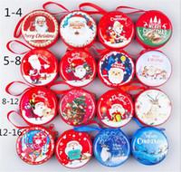 weihnachtsgeschenk dosen boxen großhandel-Mini Zinn Box Sealed Jar Kleine Lagerung Dosen Barock für Kid Verpackung Weihnachten Pralinenschachtel Weihnachtsmünze Ohrringe Kopfhörer Geschenk Box