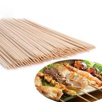 ingrosso bbq pacchetti-Barbecue in bambù Spiedini Grill Shish Kabob Stick in legno Barbecue Utensili per barbecue Churrasco Grill Accessori 1 confezione LPT6693