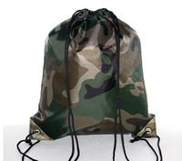 614222580 ... Saco de Cordão Camo Esporte Ginásio ao ar livre mochila de Nylon Forte  Material Para Escola Caminhadas Dança Saco de Poliéster Logotipo  Personalizado