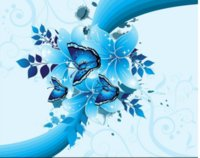 Wholesale flower wallpapers high quality - Custom Wall Mural Modern Art Painting High Quality Mural Blue Butterfly Flower Decorative Painting Wallpaper 3d Mural For Living Room