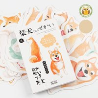 Wholesale card backing papers - Cute Shiba Inu Postcard Creative Illustrations Thicken Paper Post Card Birthday Party Decorations Greeting Cards New Arrival 4 9sg BW