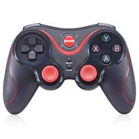 gamepad para pc inalámbrico al por mayor-GEN GAME S5 Wireless Bluetooth Gamepad Control remoto Palanca de mando PC Controlador de juegos para teléfono inteligente / tableta con receptor de soporte