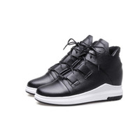 Wholesale size wedge sneakers - Favofans Hot Sale Womens Girls Solid Sport Casual Round Toes Lace up Martin Boots Sneakers Runners Shoes FF-B878 Size All customized