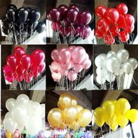 globos de color dorado al por mayor-2.2g Globos decorativos 15 colores Decoraciones de boda inflables Bola de aire Suministros de fiesta de feliz cumpleaños Globo Juguetes para niños
