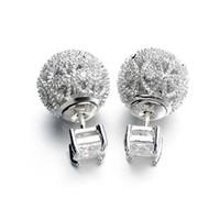 Wholesale italina jewelry brand resale online - Italina Brand Earrings K Gold Plated Austrian crystal Zircon Ball Delicate Women Stud Earrings Brand Fashion Jewelry