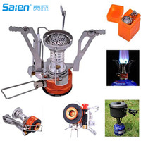 Wholesale Camping Stoves Sam Young Portable Outdoor Backpacking Cookware Cooking Stove Butane Propane for Gas Canister With Piezo