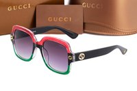 Wholesale big eyeglasses frames - 0086 sunglasses 2018 New italy brand 3mix color fashion show style big square bee sun glasses women classic shade driving eyeglasses