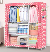 Wholesale Wardrobe DIY Non woven fold Portable Storage Cabinet