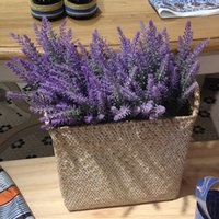 ingrosso mele verdi di plastica artificiale-Provence Lavender Flower Silk Tomentum Colorful Artificial Lavender Flower Lilla Viola Bianco Decorazione di nozze Festa a casa