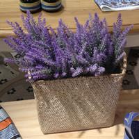 lavanda al por mayor-Provenza lavanda flor de seda Tomentum colorido lavanda artificial flor lila púrpura blanco boda decoración fiesta en casa