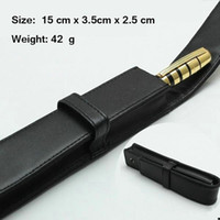 Wholesale ball pen case - High Quality MB High Quality Leather Or PU Pen Case gift Pen bag for roller ball fountain ballpoint pen