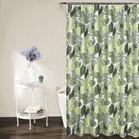 Wholesale new style curtains home for sale - Group buy Pastoral Style Green Leaves Printed Waterproof Shower Curtains Mildew Proof Curtain for Bath Home Bathroom Products New